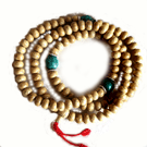 Lotus Seed Mala With Turqoise Divider Beads