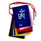 Om Mani Mantra Prayer Flag English/Tibetan