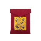 Shoulder Bag with Brocade Insert