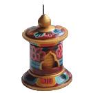 Prayer Wheel Painted Medium