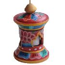 Prayerwheel Tibetan Style, Small