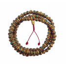 Wood Beads Inlaid With Turquoise And Coral