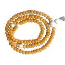 A Yak Bone Mala with Conch Guru Bead